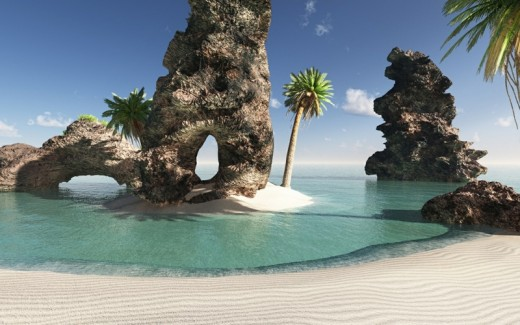 Tropical Paradise Wallpaper High Resolution: High Quality Examples Of Beach Wallpaper For Your Desktop