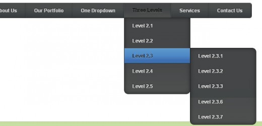CSS3 Multi-Level Drop-Down Menu