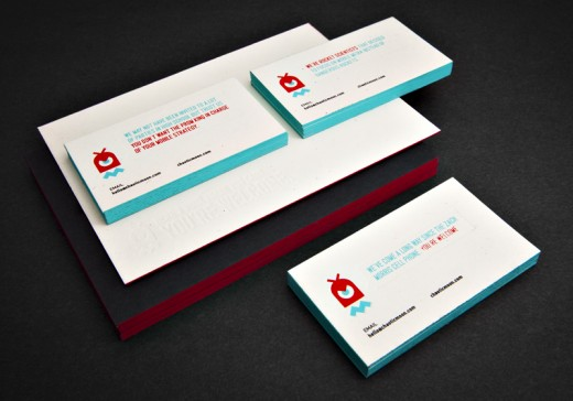 Creative collection of edge painted business card designs cssdive chaotic moon studios colateral colourmoves Images