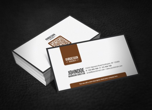Inspirational showcase of qr code business card designs cssdive clean professional qr code business card reheart Image collections