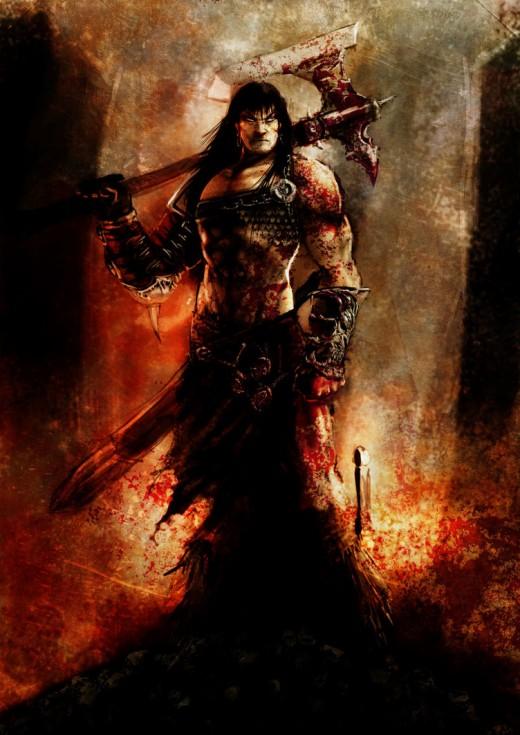 Conan with axe