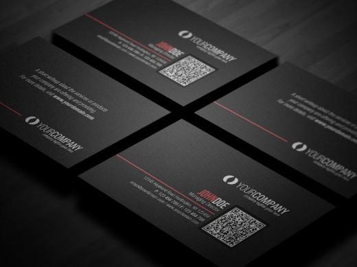 Inspirational showcase of qr code business card designs cssdive corporate qr code business card v2 colourmoves