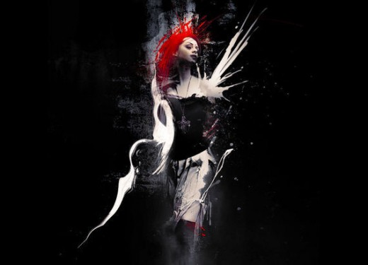 Create Abstract Dark Photo Manipulation with Splatter Brushes
