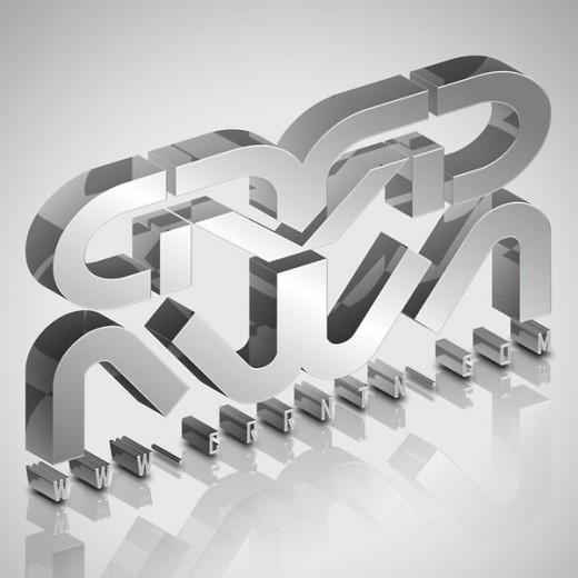 Create Elegant, Glassy, 3D Typography