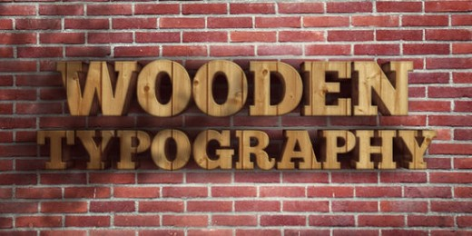Create a Realistic Wooden 3D Text Image