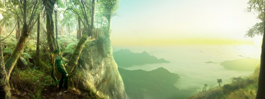 Create a Scenic Landscape Composition