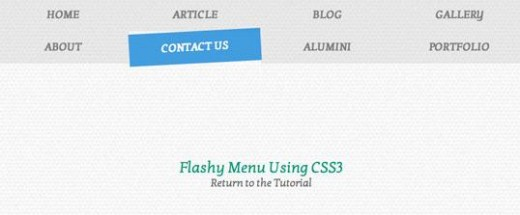 How to Create a Flashy Menu Using CSS