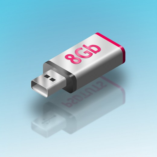 Make a Floating in Air USB Key Illustration