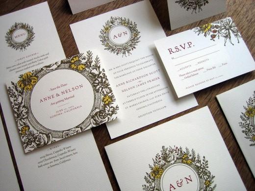Inspirational showcase of wedding invitation designs cssdive monogram complete printalbe wedding invitation set stopboris Images