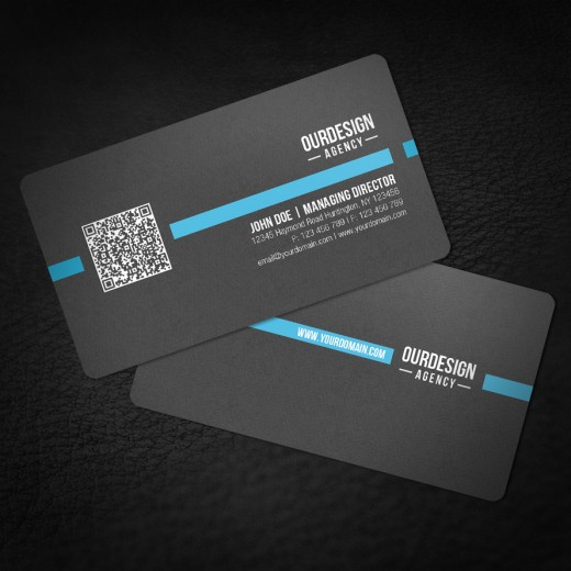 Inspirational showcase of qr code business card designs cssdive rounded corner qr code business card colourmoves