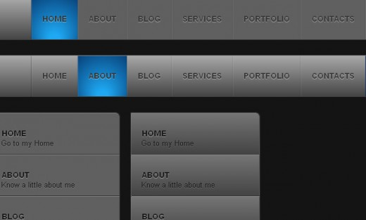 Slick Menu using CSS3