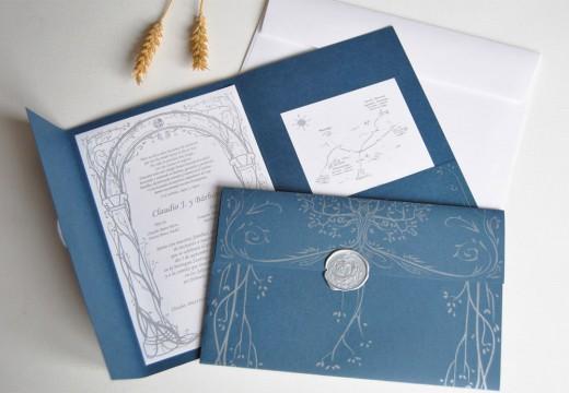 Inspirational showcase of wedding invitation designs cssdive wedding card lotr blue and silver stopboris Choice Image