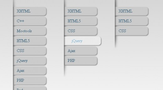 jQuery Style Menu with only CSS3
