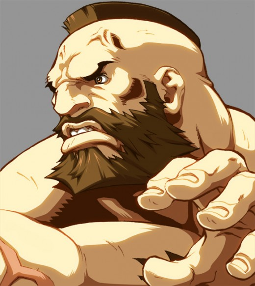 Inspirational Zangief Of Street Fighter Illustration Artworks