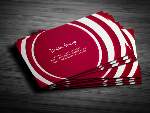 Awesome showcase of red business card designs cssdive circle business card colourmoves