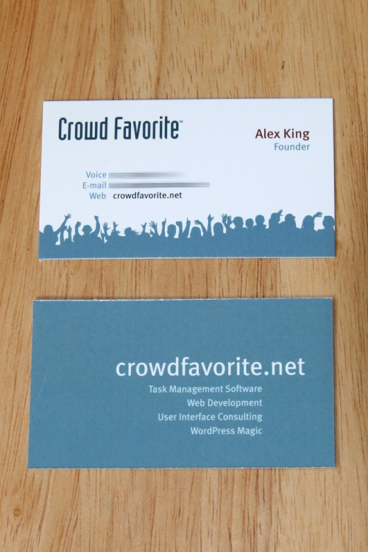 Crowd Favorite Business Cards