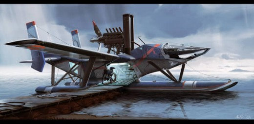 Design a Futuristic Extra Terrestrial Seaplane in Photoshop