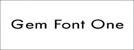 Gem Font One