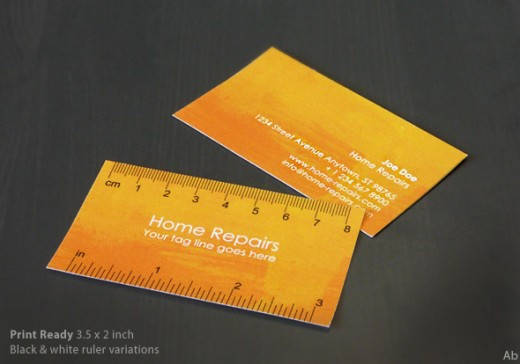 Handy Business Card with Ruler