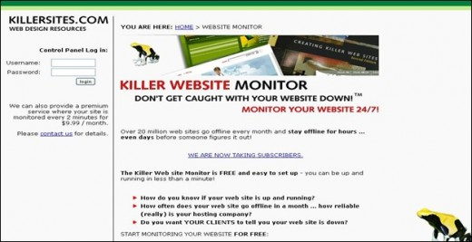 Killer Website Monitor