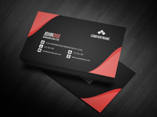 awesome showcase of red business card designs cssdive