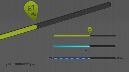 Pretty Little Progress Bars Free PSD Template