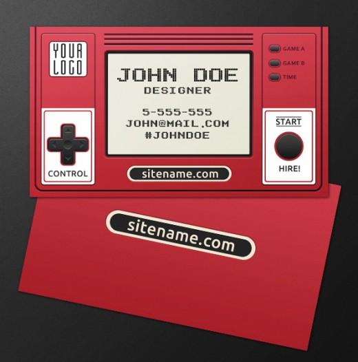 Retro Gamer Business Card