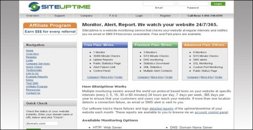 Site Uptime