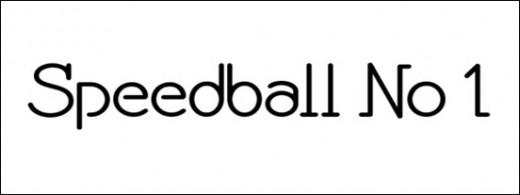 Speedball No 1