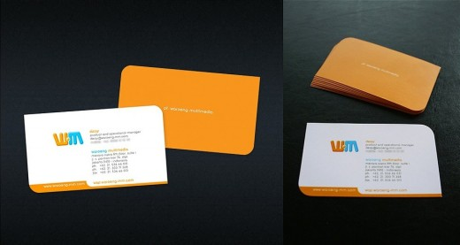 WMM Business Card - orange