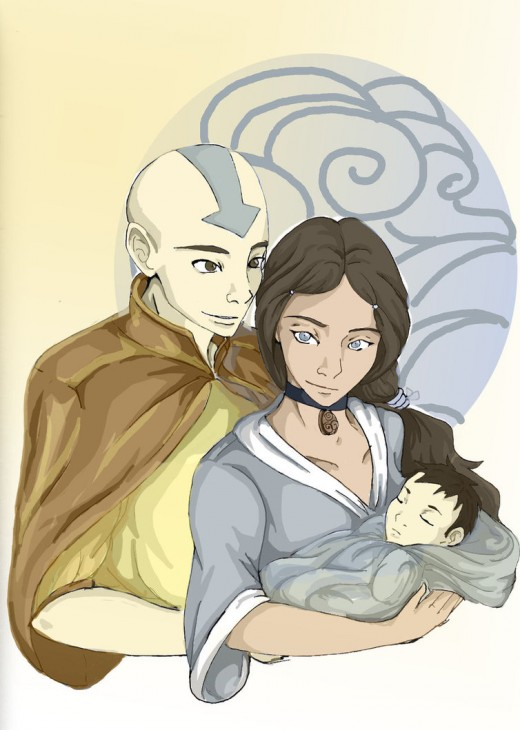 Aang and Katara-Couple 1
