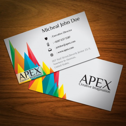 Business card awesome designs gallery card design and card template awesome colorful business card designs cssdive apex business card reheart gallery reheart Gallery