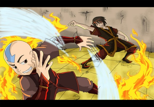 Avatar - Aang vs Zuko