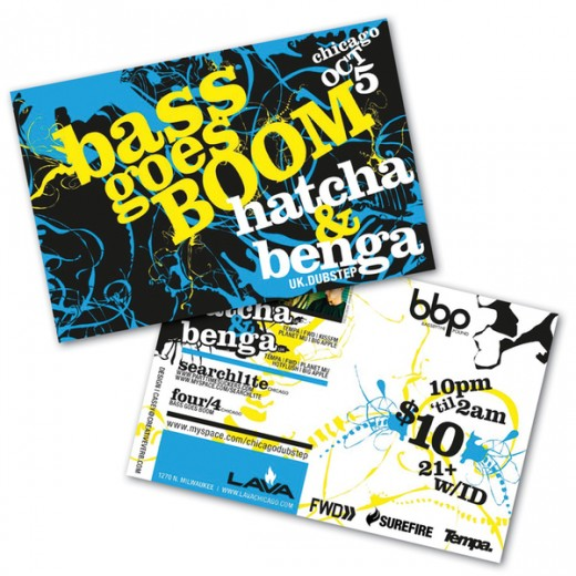 BASS GOES BOOM fliers '07