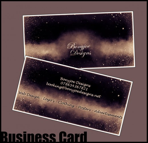 Bonyjoe Designs Business Card