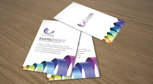 Color twirl business card