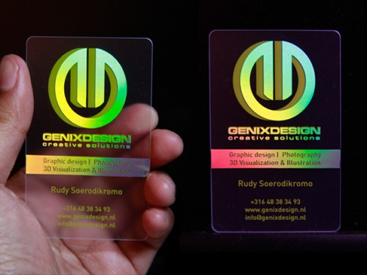 Coolest Holographic BusinessCard