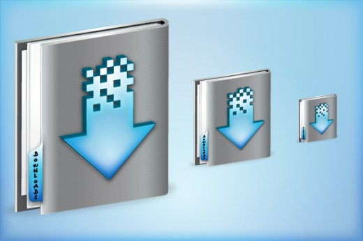 Create a Glossy Downloads Folder Icon