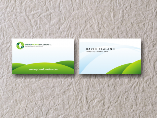 Green Business Card by Bluepitox
