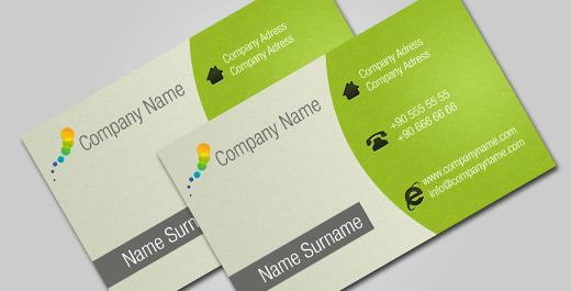 Green Business Card by DJuNiQuE