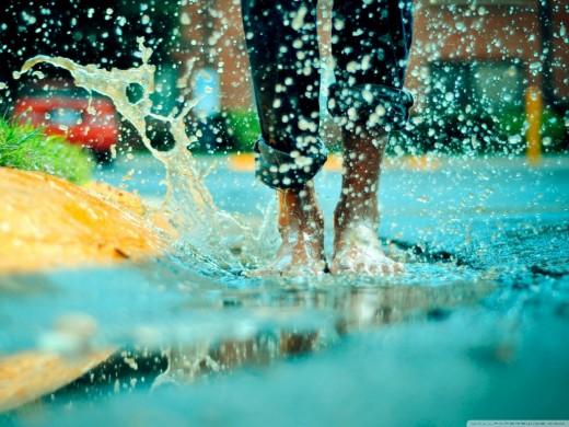 Jumping in a Rain