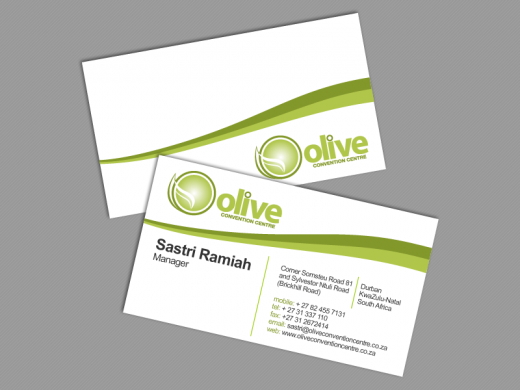 Olive Business Card Design