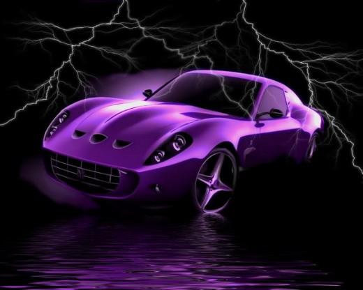 Purpel Car