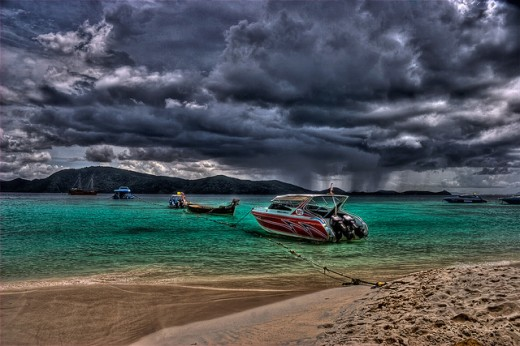 Storm Approaching Paradise