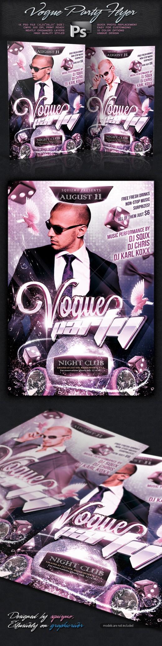 Vogue Show Party Flyer