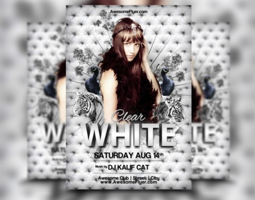 White Tiger Club Flyer Template