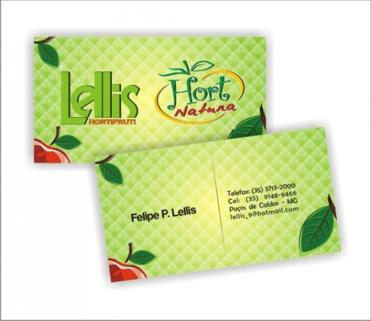 business card green