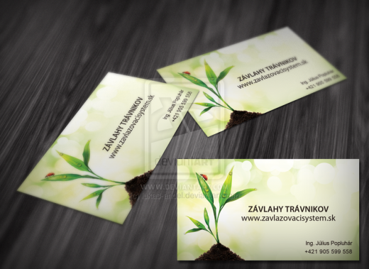 business cards for lawn irrigation