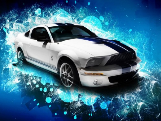 white shelby gt wallpapers