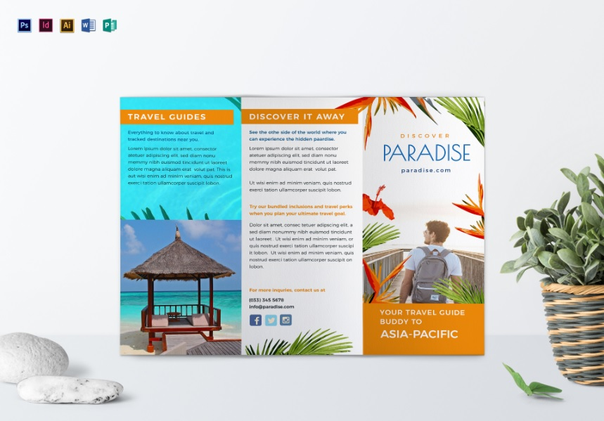 Best Travel Tri Fold Brochure Template
